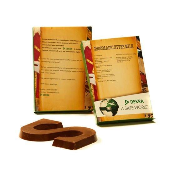 Chocoladeletter A t/m Z in eigen doosje - standaard ontwerp