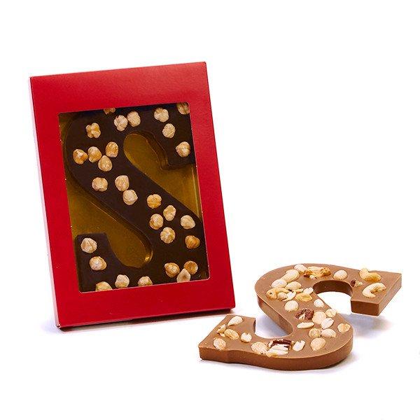 Chocoladeletter notemix