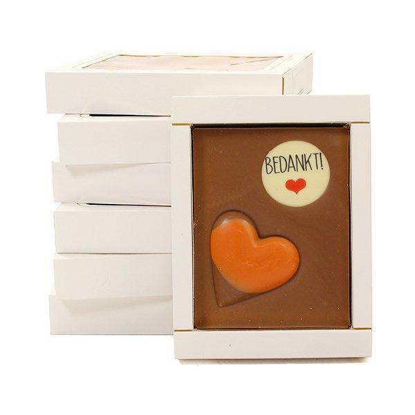 Bedankt - chocolade plakken stapel