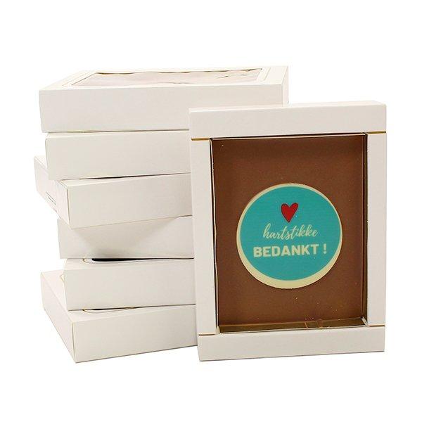 Harstikke bedankt - chocolade plak stapel