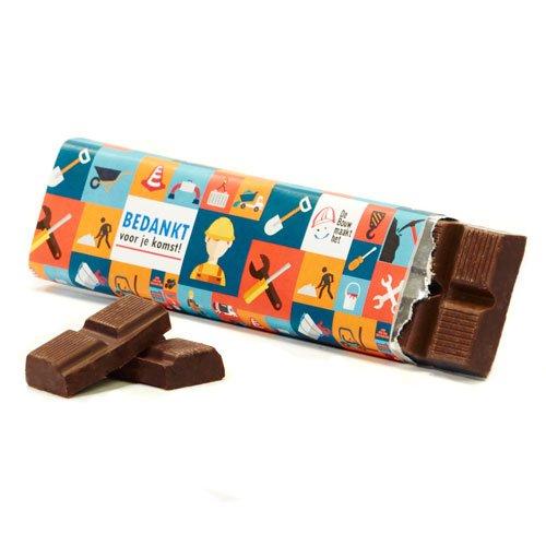 Chocoladereep met eigen wikkel - Dag vd Bouw