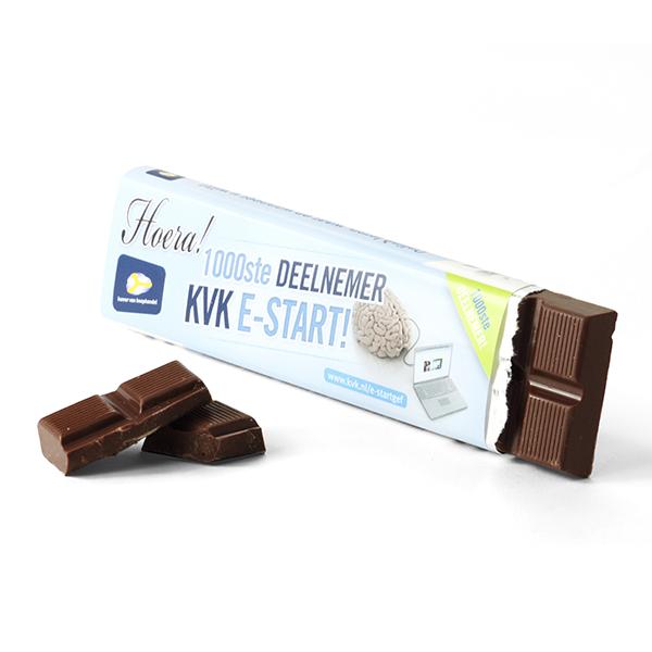Chocoladereep met eigen wikkel
