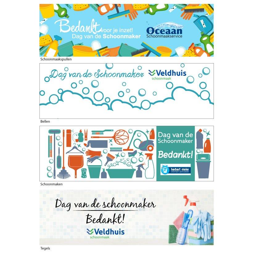 Dag van de schoonmaker ontwerpen