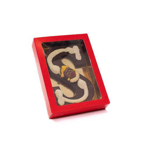 Chocoladeletter S met decoratie