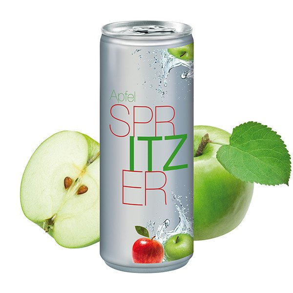 Blikje Apple Spritzer - basic transparant