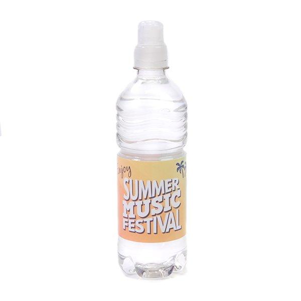 Ribbel flesje mineraalwater 50 cl met sportdop