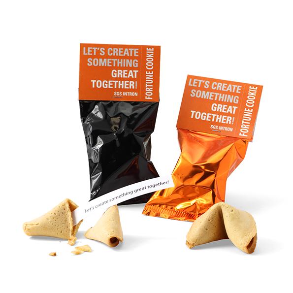 Fortune cookie met topkaartje - eigen teksten