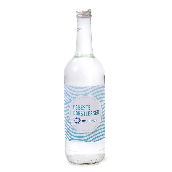 Glazen fles 750 ml mineraalwater