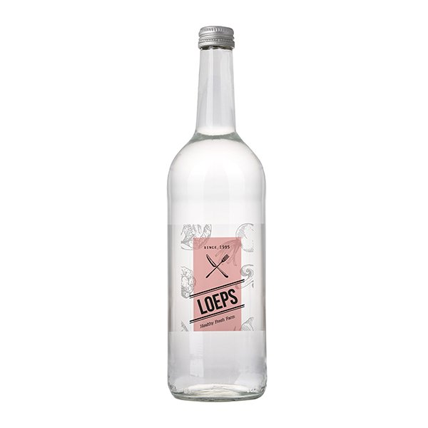 Glazen fles 75 cl