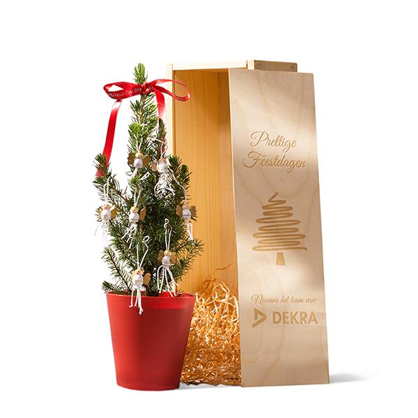 Bureau kerstboompje - diverse versiering en verpakkingen mogelijk