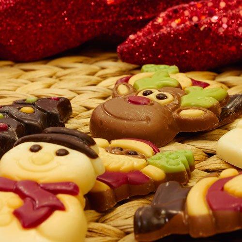 Chocolade kerst figuren