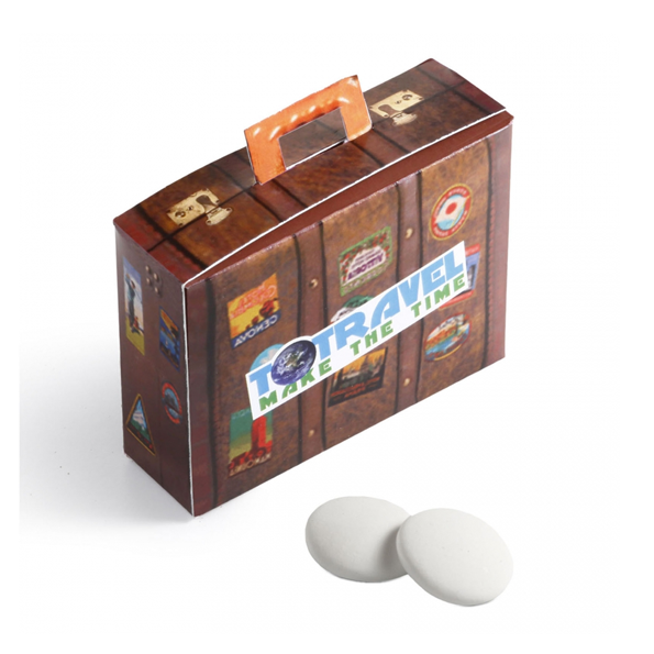 Koffer vol pepermuntjes - eigen ontwerp bedrukking