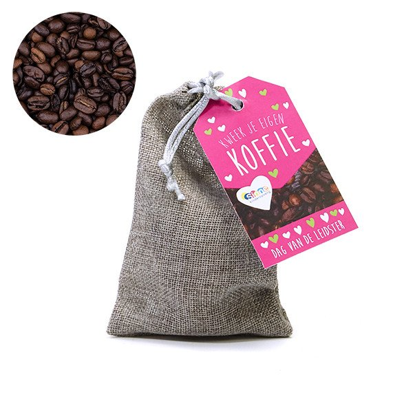 Koffie kweekset in jute zakje