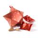 Medium ster met 5 fortune cookies - rood