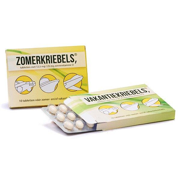 Medicijndoosje met snoepjes - zomerkriebels