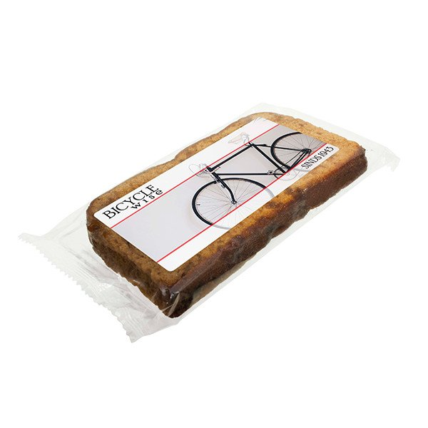 Ontbijtkoek met bedrukking label