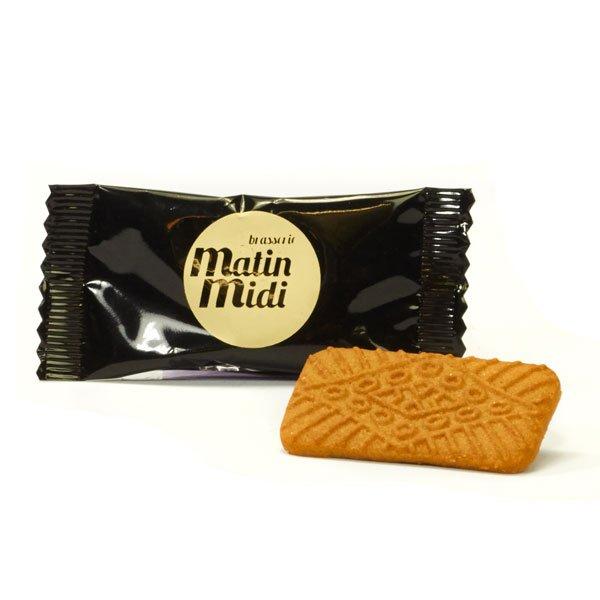 Heerlijke speculoos koekjes verpakt in een folie met logo opdruk