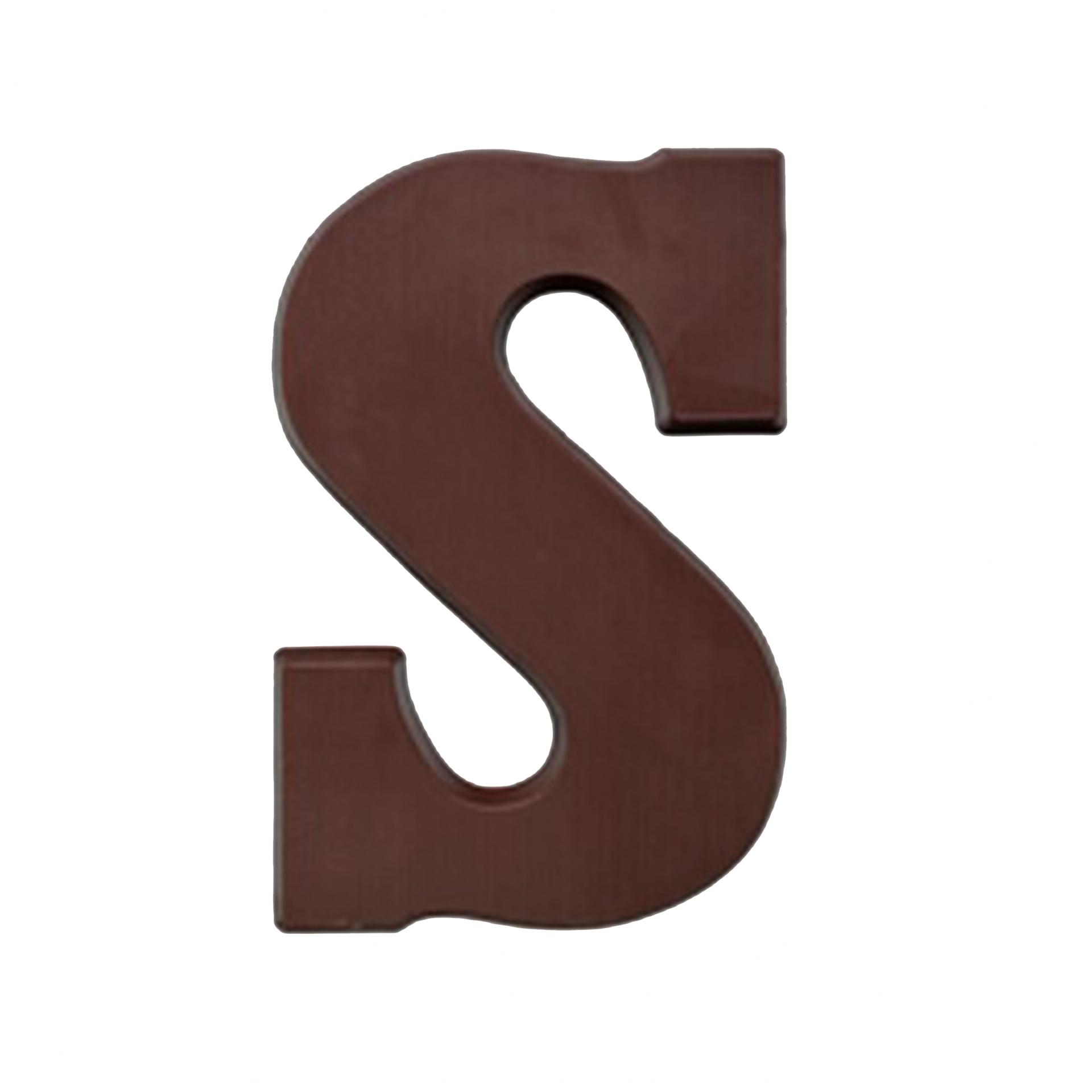 Chocoladeletter S suikervrij, 200 gram