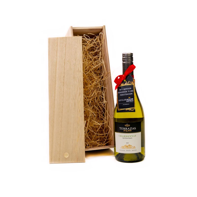 Terrazas de los andes chardonnay in houten kist