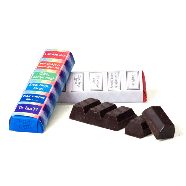 Tony Chocolonely mini in eigen sleeve - ludiek design