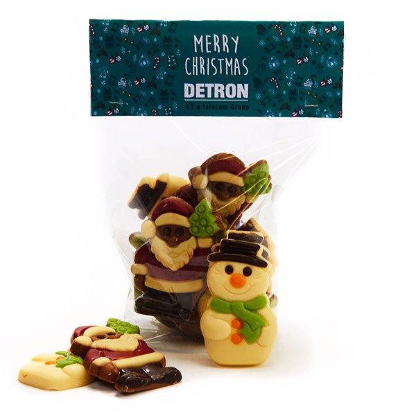 Zakje kerstchocolade - groot