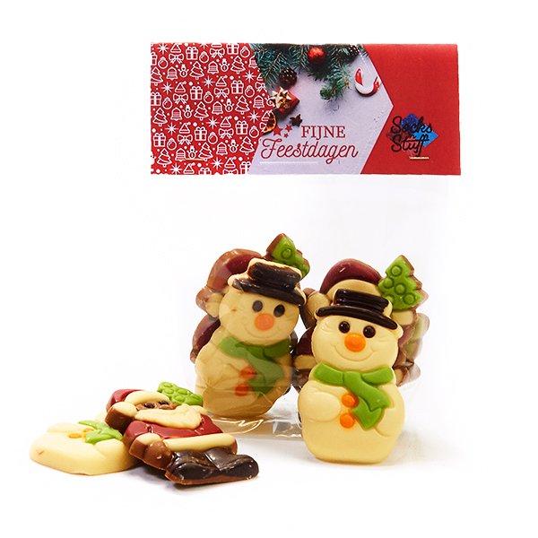 Zakje kerstchocolade -klein