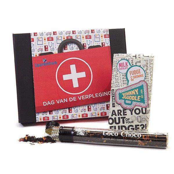 Geschenkpakket met Johnny Doodle en thee tube