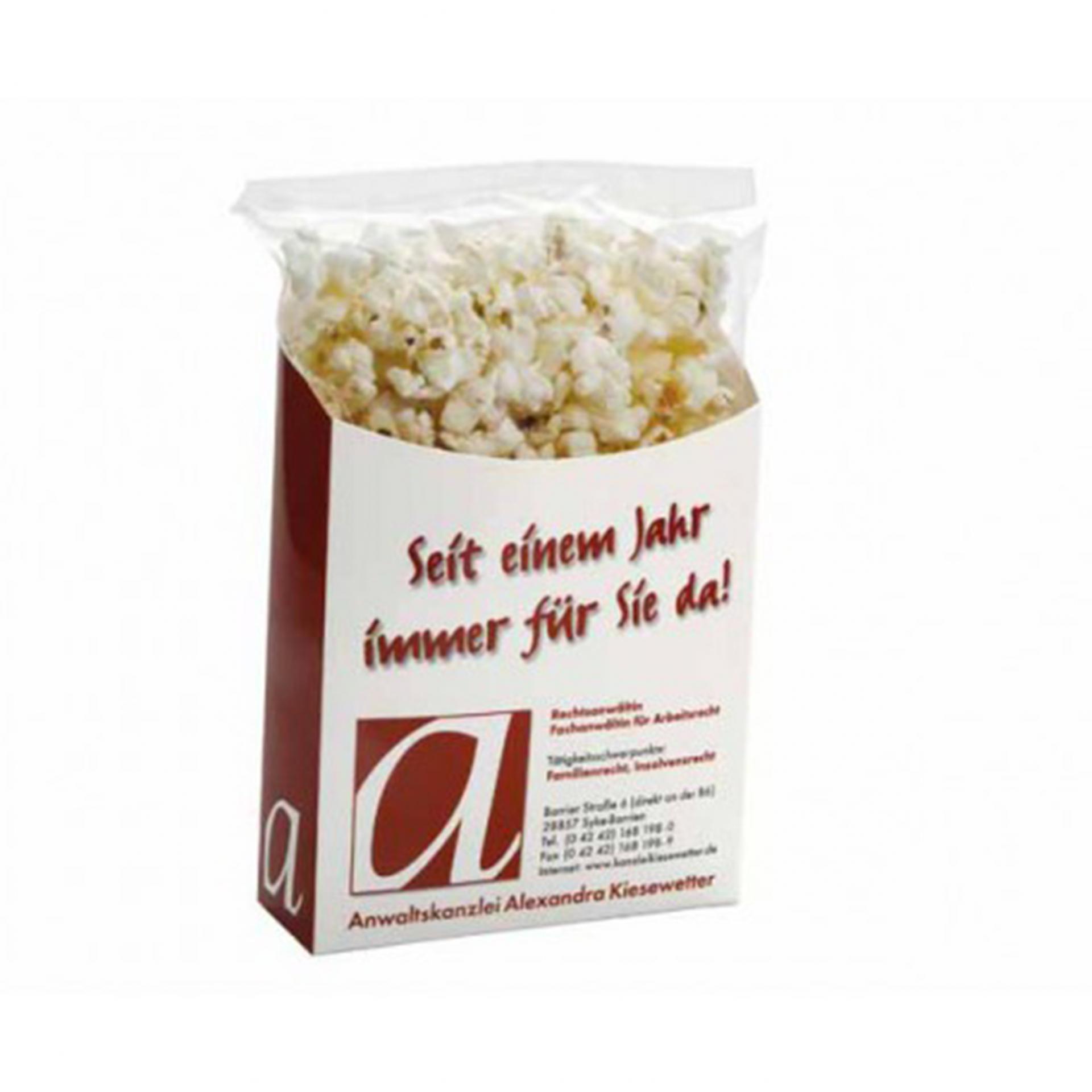 Uitdeeldoos met popcorn