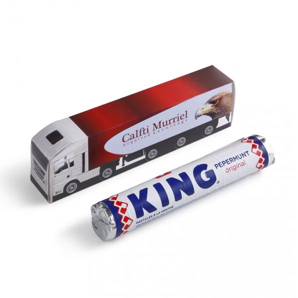 Vrachtwagen met KING pepermunt
