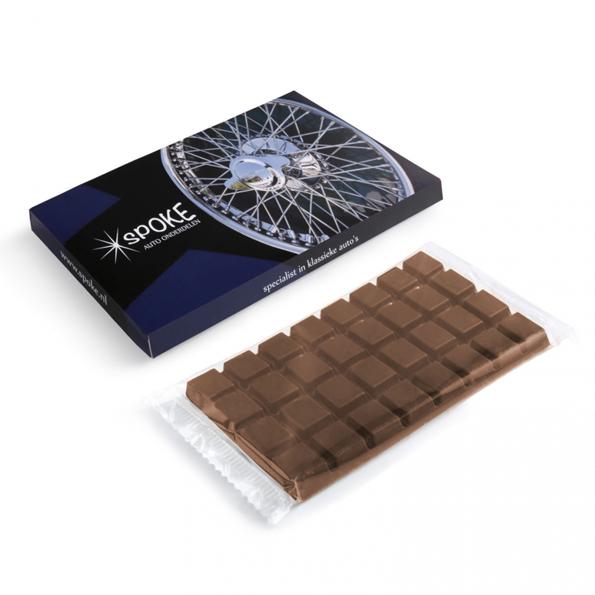 XL chocolade reep in eigen doosje