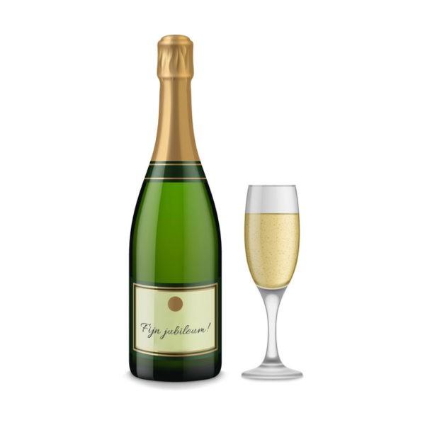 Jubileum cadeau champagne