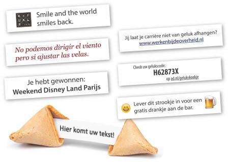 Fortune Cookies met eigen tekst