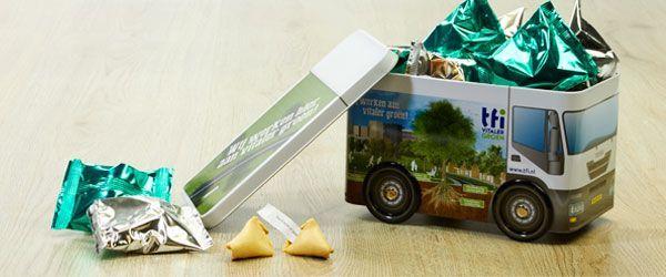 Busblik met Fortune Cookies - Transport relatiegeschenken