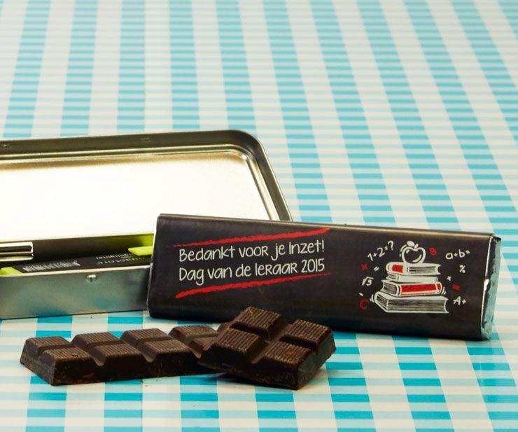 Chocoladereep: bedankje voor alle leerkrachten