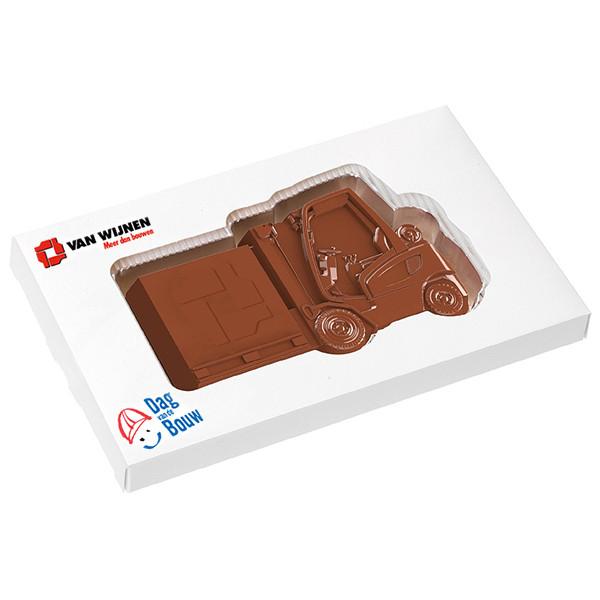 dag van de bouw - chocolade plak heftruck