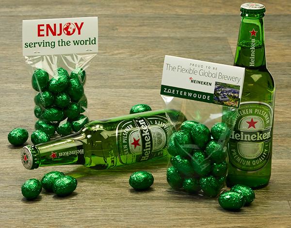 Groene paaseitjes voor Heineken!