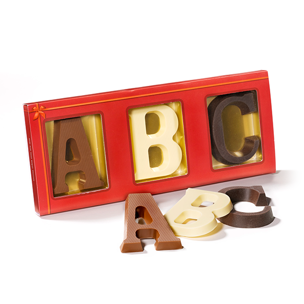 Chocoladeletter 3 letters