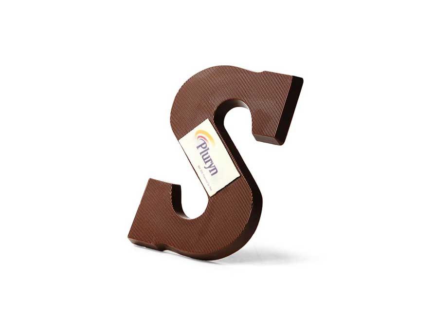 chocoladeletter eigen logo
