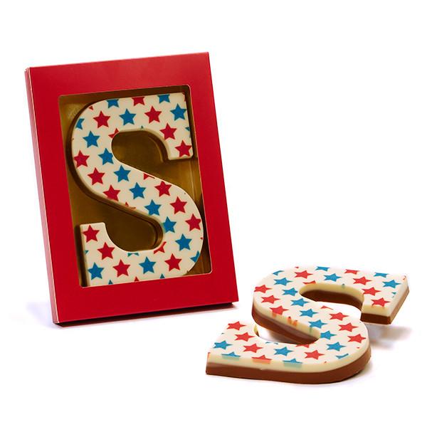 chocoladeletter met print