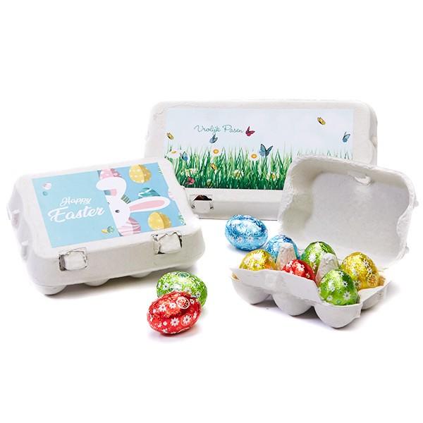 eierdoosjes met paaseitjes-compleet