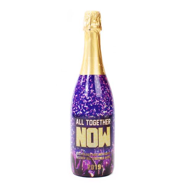 Champagne met bedrukking